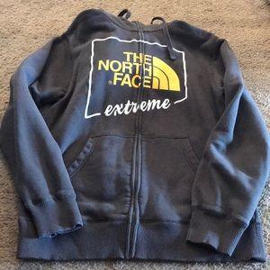 Men's North Face zip up hoodie